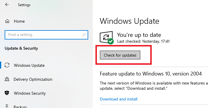 Perform a Windows Update for Manually Updating the Battery Drivers in Windows-1
