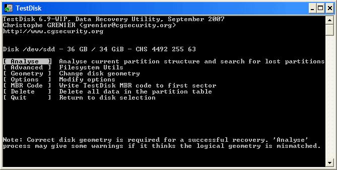 TestDisk for Mac