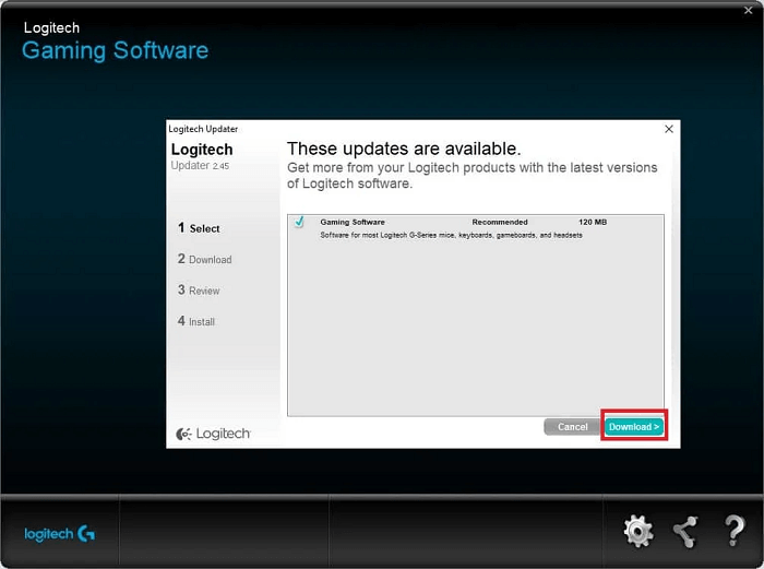 Update Logitech Gaming Software manually-2