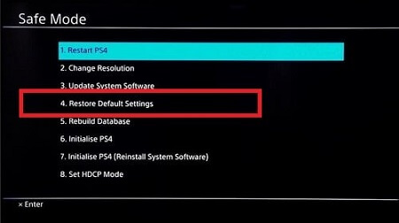 Restore Default Settings Of Your PS4 Console-1