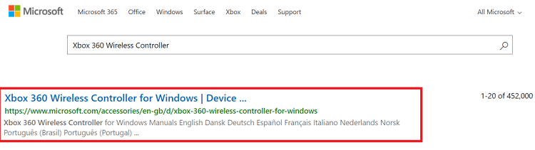 Download the Xbox 360 Wireless Controller driver via the official website-1