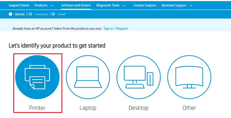 Download HP LaserJet M1005 MFP scanner driver from HP website