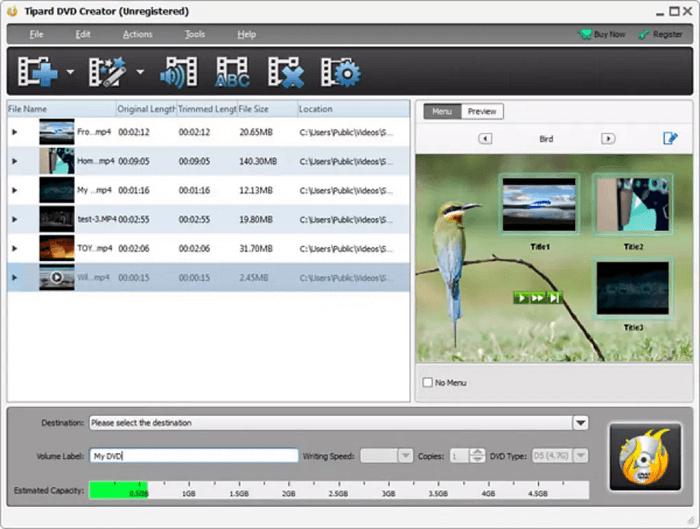Tipard DVD Creator for Mac - Mac DVD Burner Software
