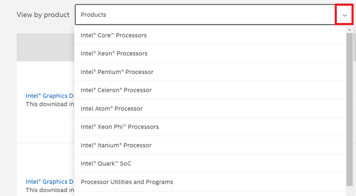 Download the Intel CPU driver through the Intel website-2