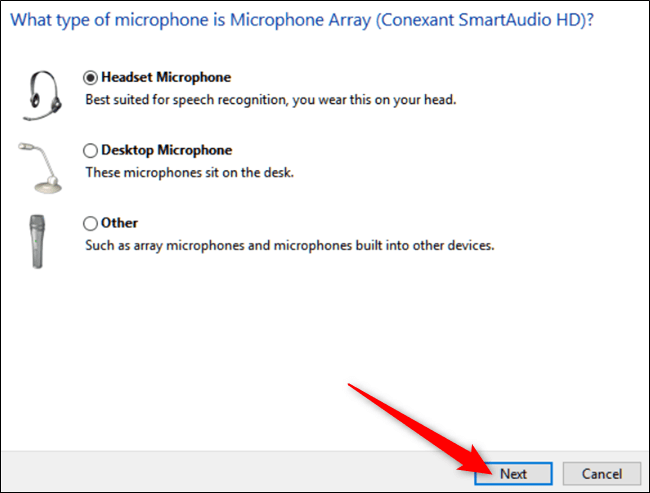 Make sure the microphone is configured correctly-3