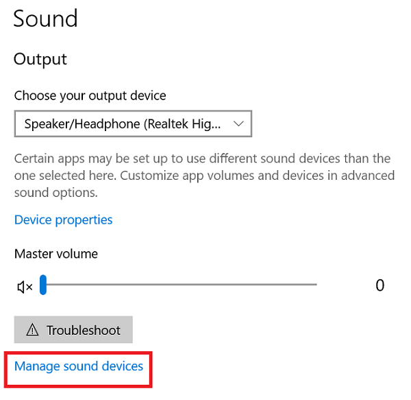 Enable the headphone and set it as default-1