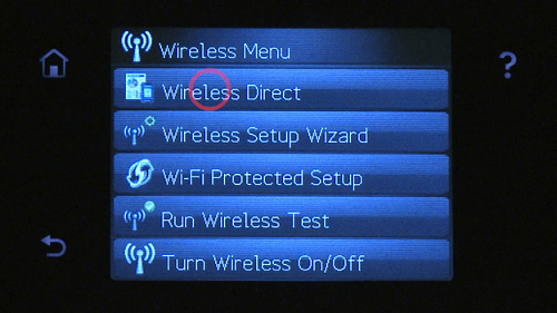 Use Wi-Fi Direct or HP Wireless Direct