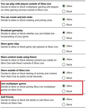 Change Setting On Xbox.com