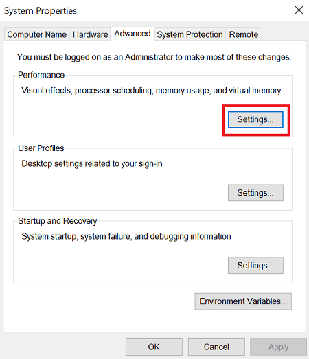 Change the virtual memory size-2