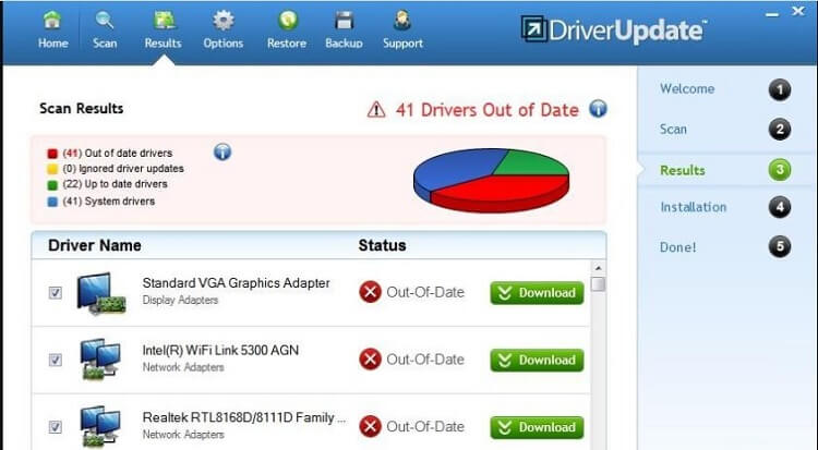 Check Results And Update Drivers