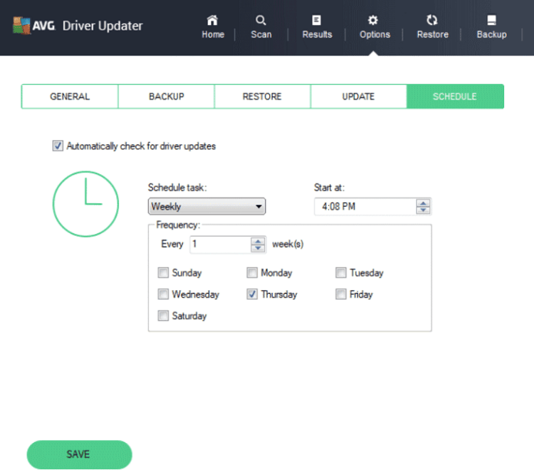 How To Schedule Scans Using AVG Driver Updater