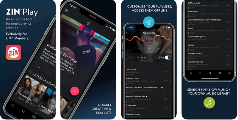 Zin-play fitness app