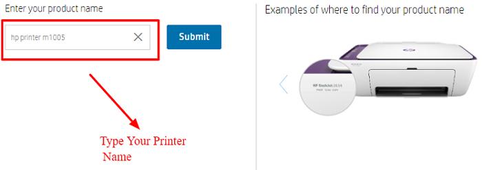 type printer device name to update printer drivers