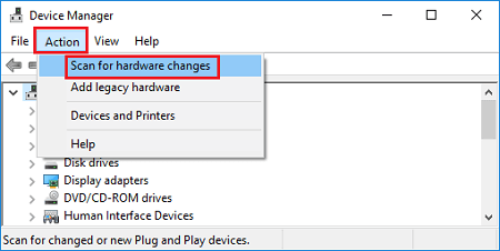 Reinstall the Lenovo Touchpad Driver with device manager