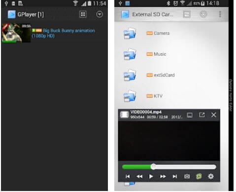 GPlayer-best HD video players for android