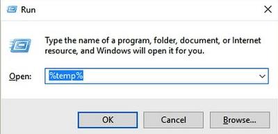 Remove the temporary files