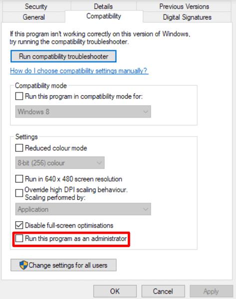 Deactivate the Compatibility Mode
