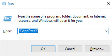 Steps to delete files from AppData