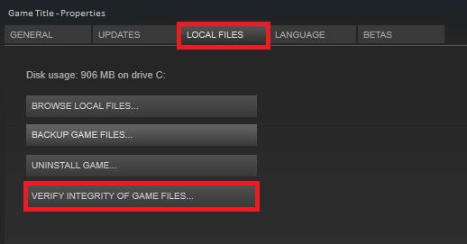 Verify the game file integrity