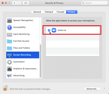 Screen recording setting mac for zoom