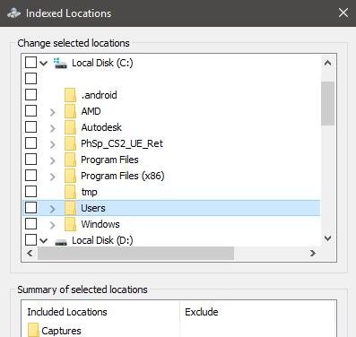 Rebuild Or Configure Windows 10 Search Indexer-15
