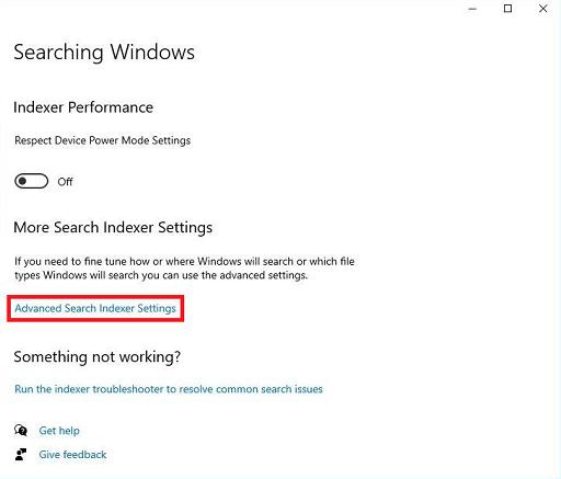 Rebuild Or Configure Windows 10 Search Indexer-4