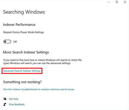 Rebuild Or Configure Windows 10 Search Indexer-11