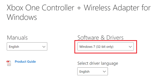 Download the Xbox One controller driver from the official website