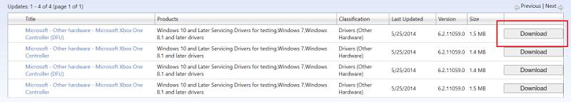 Download the Xbox One Controller Driver via Xbox Search