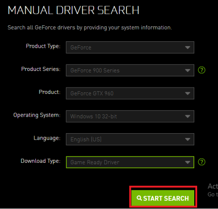 download GeForce GTX 960 Driver from website