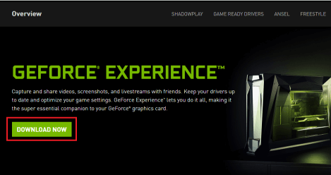 How to download Nvidia GeForce Experience on Windows 10
