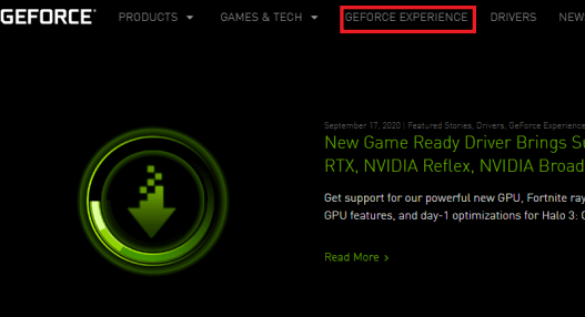 Download Nvidia GeForce Experience