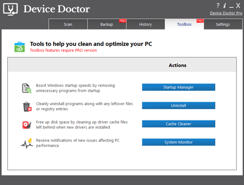 Download device docter