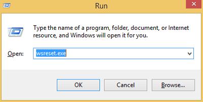 Reset The Windows 10 Microsoft Store Cache