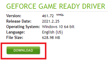 download drivers via GeForce RTX 3060 Ti Driver From NVIDIA's Website