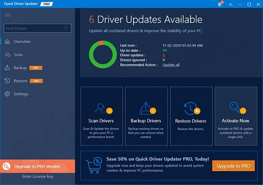 Quick Driver Updater- An essential app for Windows 10