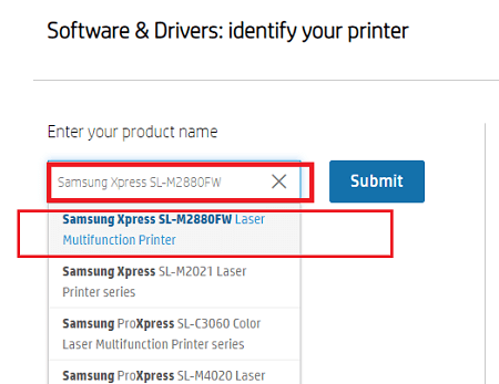 Download & Update Samsung Printer Driver From HP's Driver Support-4