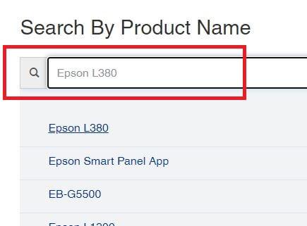 Search Epson L380