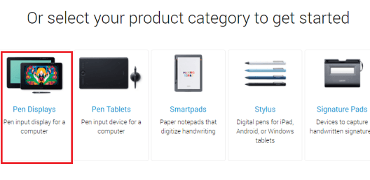 Download the drivers through the Wacom website-1