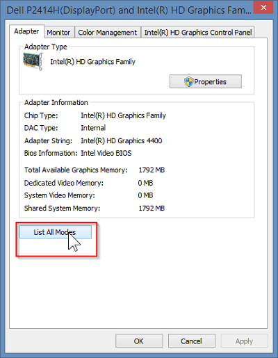 Change the hardware resolution settings and refresh rate-1