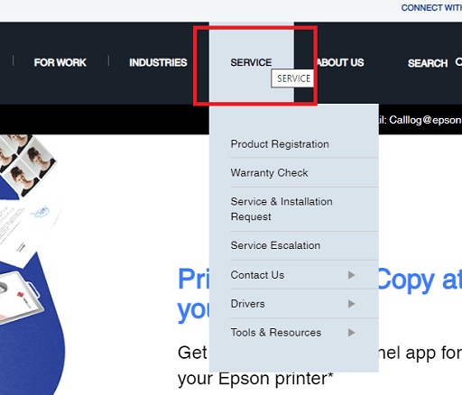official website of Epson