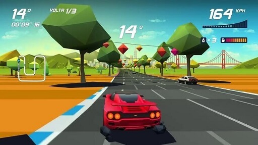 Horizon Chase- offline racing games that support Android TV and NVIDIA Shield TV