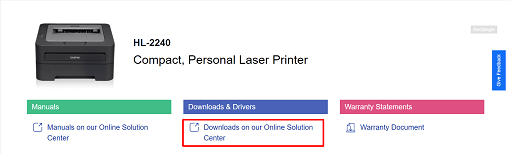 Click on Downloads on our Online Solution Center