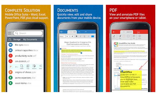 SmartOffice- View & Edit MS Office Files & PDF's