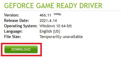 Download the GeForce Driver