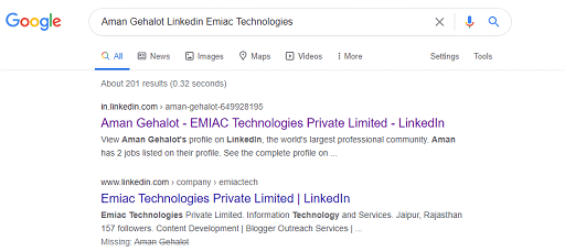 Take the Help of Google to View a LinkedIn Profile
