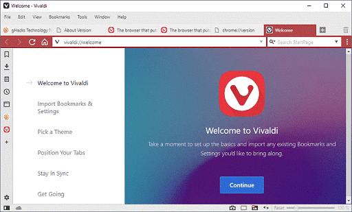 Vivaldi – Fastest Windows Browser