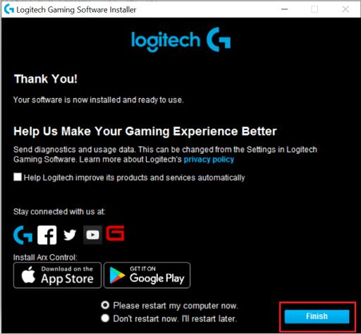Logitech G910 Gaming Software Install