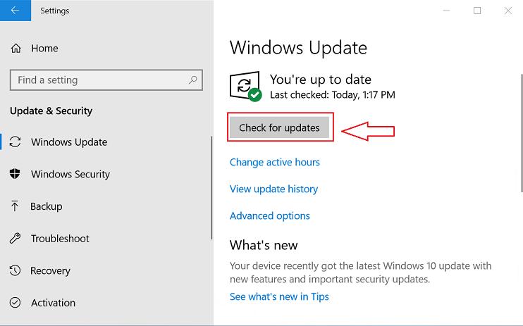 Via Windows Update to Update the HP Camera Drivers