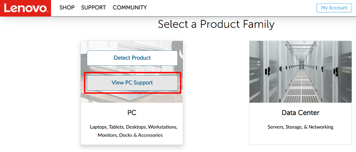 Download Lenovo power management driver through the official website